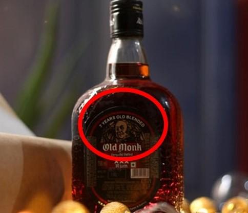 old monk rum bottle